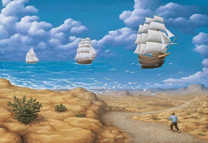 Πίνακες ζωγραφικής - οφθαλμαπάτες που παίζουν με το μυαλό (15)