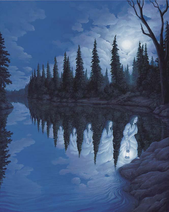 Πίνακες ζωγραφικής - οφθαλμαπάτες που παίζουν με το μυαλό (25)