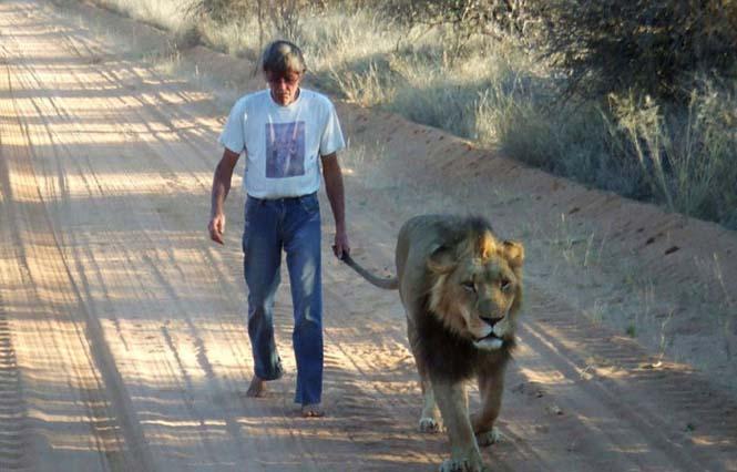 Άνδρας και λιοντάρι έχουν μια σπάνια φιλία (5)