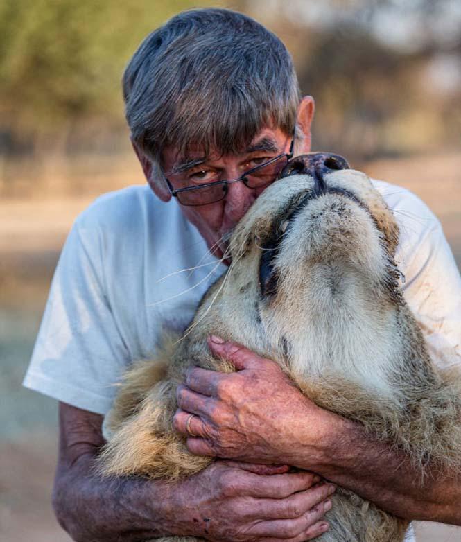 Άνδρας και λιοντάρι έχουν μια σπάνια φιλία (9)