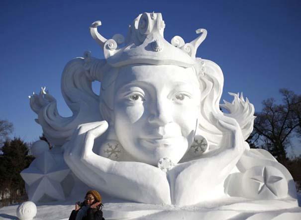Εκπληκτικές δημιουργίες στο φεστιβάλ πάγου της Κίνας (1)