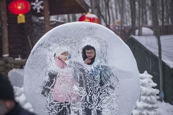 Εκπληκτικές δημιουργίες στο φεστιβάλ πάγου της Κίνας (4)