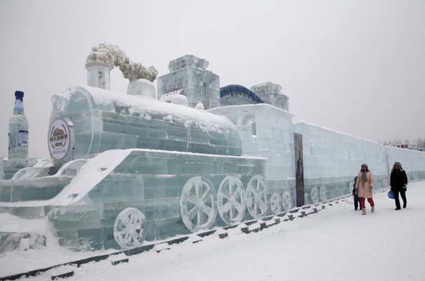 Εκπληκτικές δημιουργίες στο φεστιβάλ πάγου της Κίνας (8)