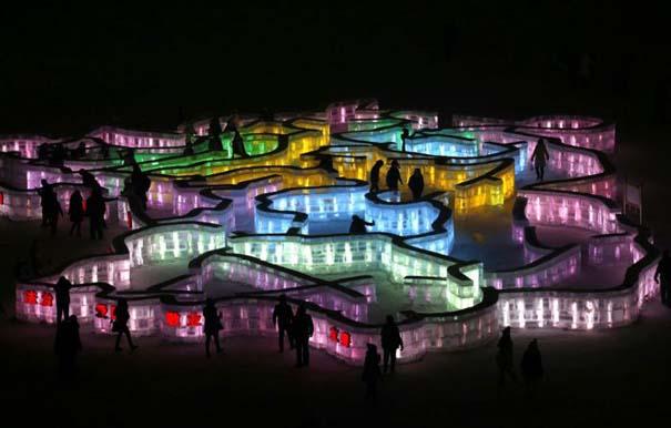 Εκπληκτικές δημιουργίες στο φεστιβάλ πάγου της Κίνας (24)