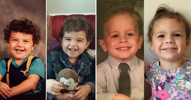 Φωτογραφίες γονιών και των παιδιών τους με απίστευτη ομοιότητα στην ίδια ηλικία (1)