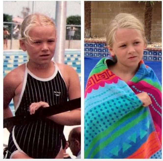 Φωτογραφίες γονιών και των παιδιών τους με απίστευτη ομοιότητα στην ίδια ηλικία (5)