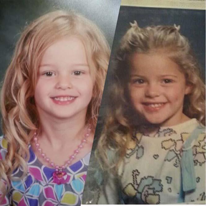 Φωτογραφίες γονιών και των παιδιών τους με απίστευτη ομοιότητα στην ίδια ηλικία (6)