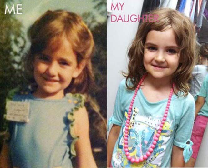 Φωτογραφίες γονιών και των παιδιών τους με απίστευτη ομοιότητα στην ίδια ηλικία (13)