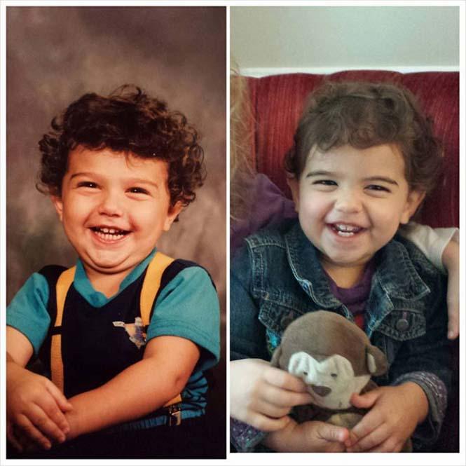 Φωτογραφίες γονιών και των παιδιών τους με απίστευτη ομοιότητα στην ίδια ηλικία (2)