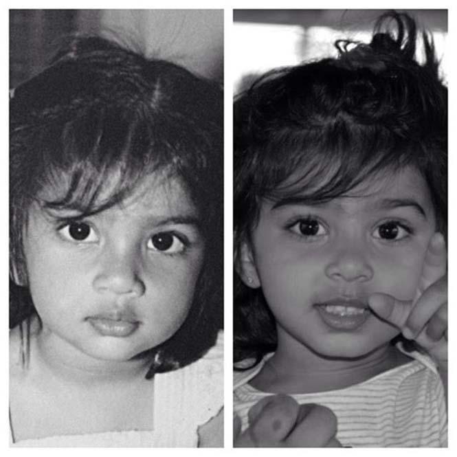 Φωτογραφίες γονιών και των παιδιών τους με απίστευτη ομοιότητα στην ίδια ηλικία (8)
