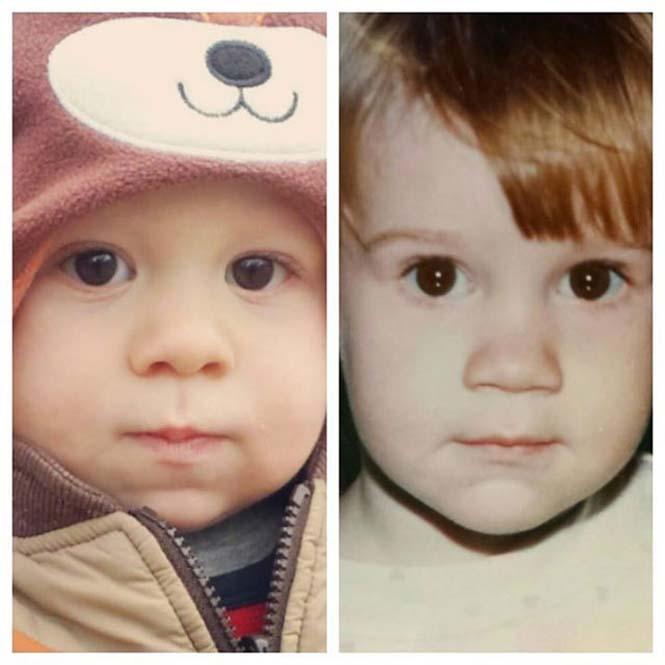 Φωτογραφίες γονιών και των παιδιών τους με απίστευτη ομοιότητα στην ίδια ηλικία (3)