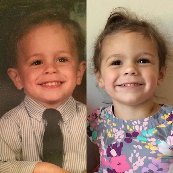 Φωτογραφίες γονιών και των παιδιών τους με απίστευτη ομοιότητα στην ίδια ηλικία (10)