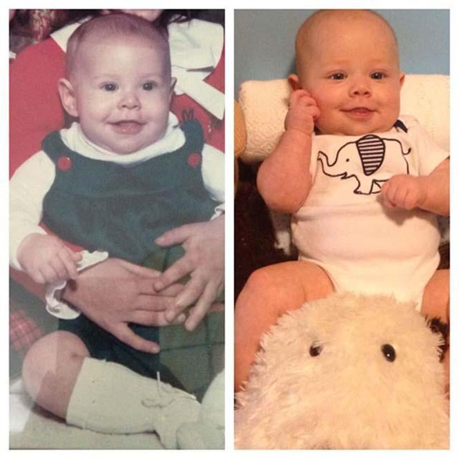 Φωτογραφίες γονιών και των παιδιών τους με απίστευτη ομοιότητα στην ίδια ηλικία (4)