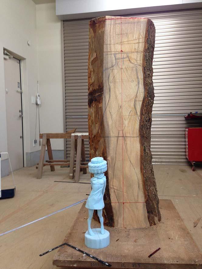 Ιάπωνας γλύπτης δείχνει πως μετατρέπει το ξύλο σε σουρεαλιστικά αγάλματα (5)
