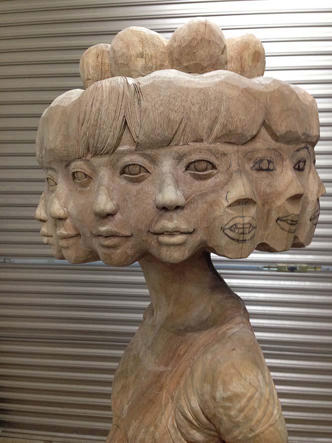 Ιάπωνας γλύπτης δείχνει πως μετατρέπει το ξύλο σε σουρεαλιστικά αγάλματα (8)