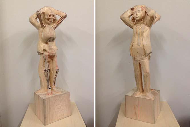 Ιάπωνας γλύπτης δείχνει πως μετατρέπει το ξύλο σε σουρεαλιστικά αγάλματα (18)