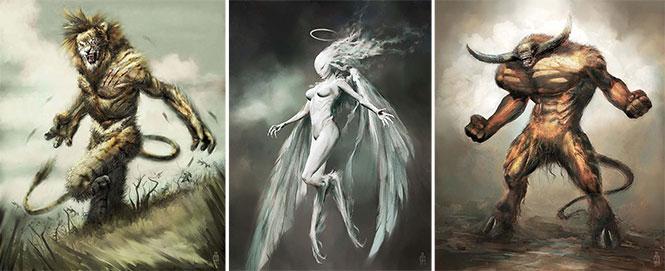 Καλλιτέχνης φαντάζεται τα 12 ζώδια ως μυθικά τέρατα