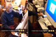 Παππούς «φτιάχνει» computer που έχει παγώσει