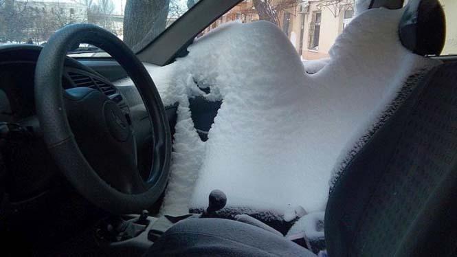 Ποτέ μην ξεχνάς να κλείνεις το παράθυρο του αυτοκινήτου τον Χειμώνα (2)