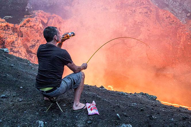 Ψήνοντας ζαχαρωτά σε ηφαίστειο
