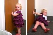 2χρονο κοριτσάκι μαθαίνει πως μόλις απέκτησε αδερφή