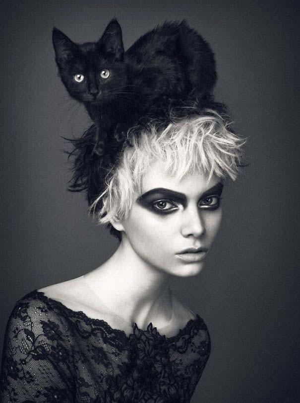 Άνθρωποι που φορούν γάτες για καπέλο (14)