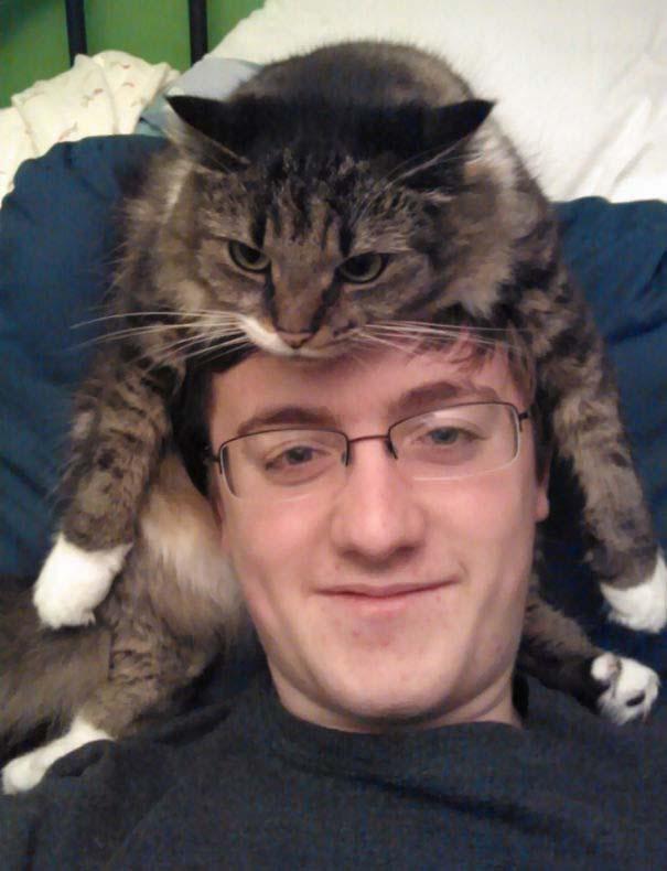 Άνθρωποι που φορούν γάτες για καπέλο (27)