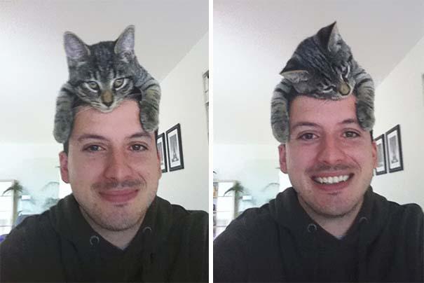 Άνθρωποι που φορούν γάτες για καπέλο (30)