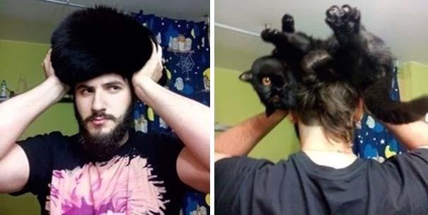 Άνθρωποι που φορούν γάτες για καπέλο (32)