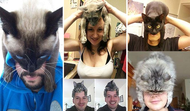 Άνθρωποι που φορούν γάτες για καπέλο είναι το νέο θεότρελο trend