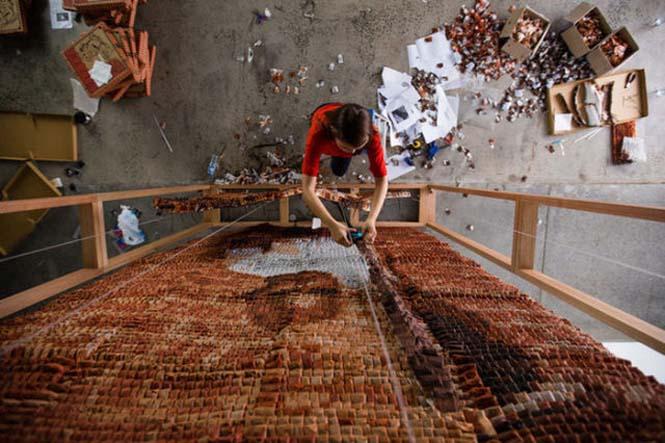 Ένα απίστευτο έργο τέχνης με 20.000 σακουλάκια τσαγιού (7)