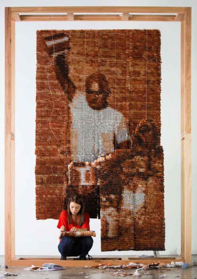 Ένα απίστευτο έργο τέχνης με 20.000 σακουλάκια τσαγιού (8)