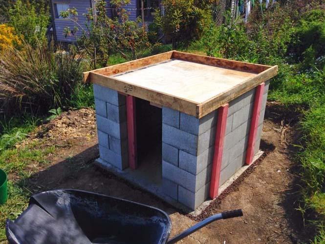 Κατασκευή ενός αυτοσχέδιου ξυλόφουρνου (6)