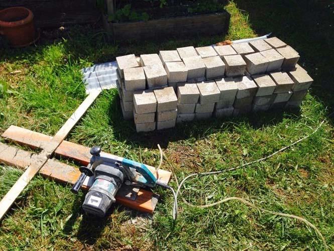 Κατασκευή ενός αυτοσχέδιου ξυλόφουρνου (8)