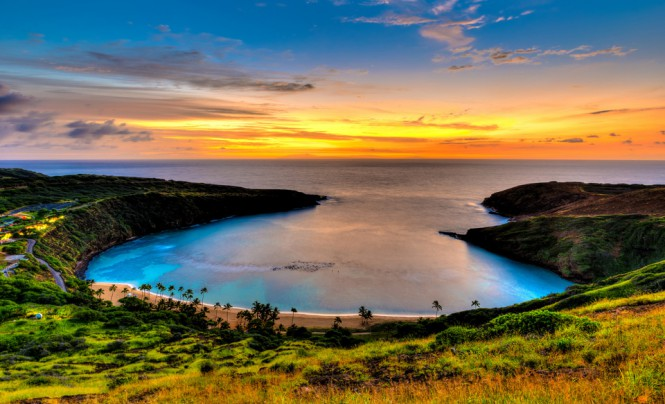 Ηλιοβασίλεμα στο Hanauma Bay της Χαβάης | Φωτογραφία της ημέρας