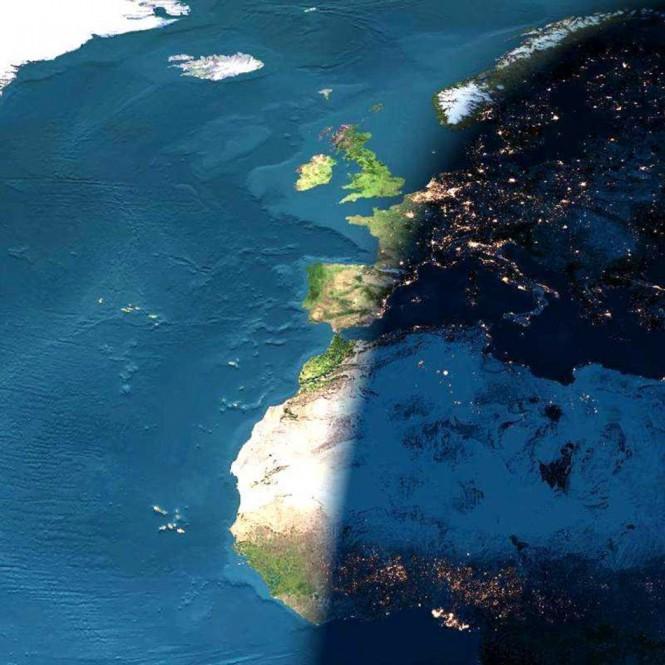 Ημέρα και νύχτα από το διάστημα | Φωτογραφία της ημέρας