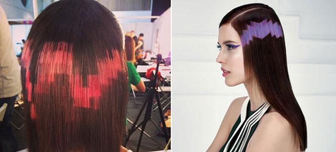 Pixelated μαλλιά