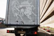 Τέχνη πάνω σε σκονισμένα φορτηγά (2)