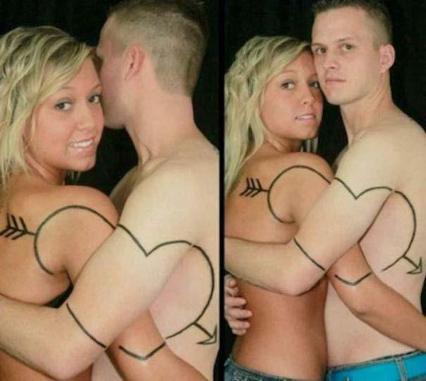 33 ζευγάρια που ενώθηκαν με ένα πρωτότυπο ή παράξενο τατουάζ (26)