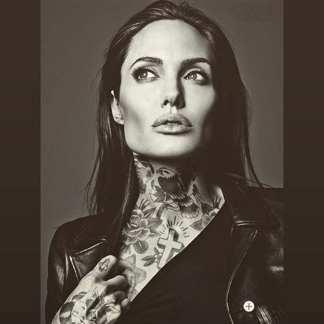 Καλλιτέχνης φαντάζεται τους διάσημους με τατουάζ χρησιμοποιώντας το Photoshop (2)