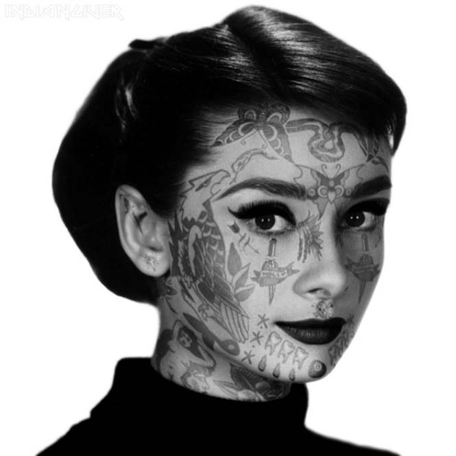 Καλλιτέχνης φαντάζεται τους διάσημους με τατουάζ χρησιμοποιώντας το Photoshop (4)