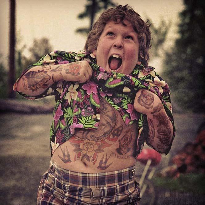 Καλλιτέχνης φαντάζεται τους διάσημους με τατουάζ χρησιμοποιώντας το Photoshop (11)