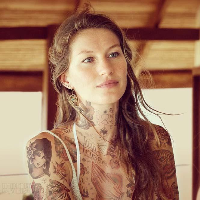 Καλλιτέχνης φαντάζεται τους διάσημους με τατουάζ χρησιμοποιώντας το Photoshop (12)