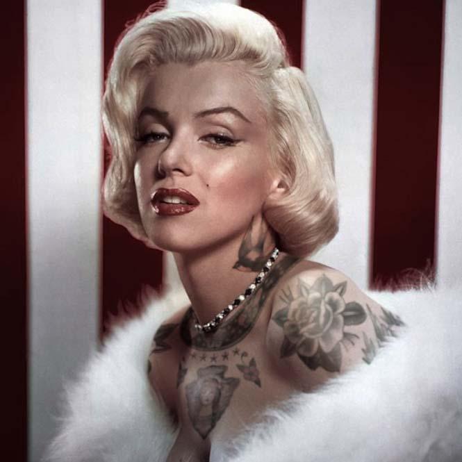 Καλλιτέχνης φαντάζεται τους διάσημους με τατουάζ χρησιμοποιώντας το Photoshop (1)