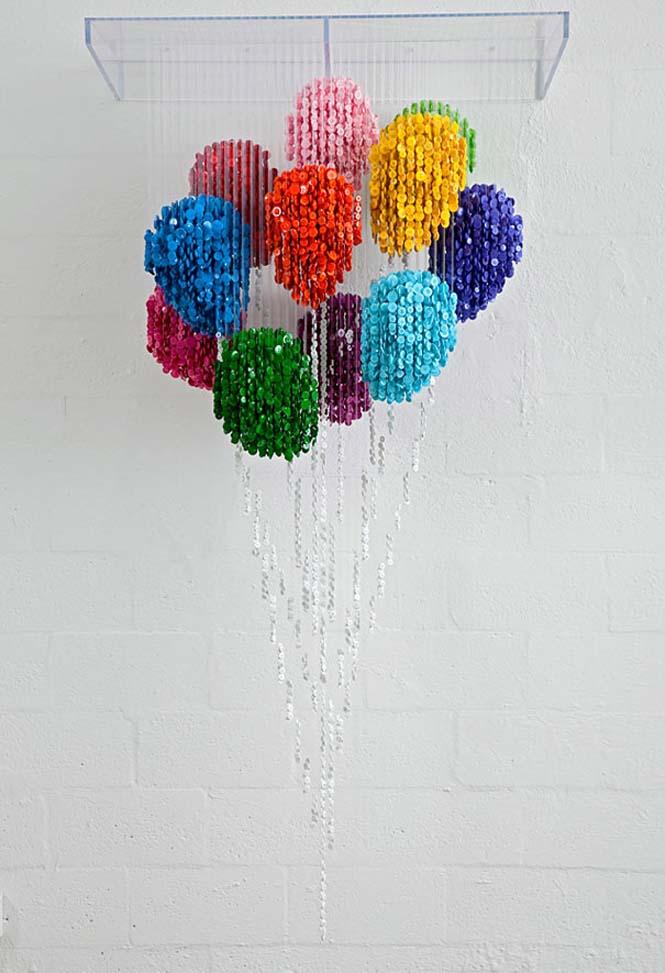 Εντυπωσιακή τέχνη με κλωστές και κουμπιά (3)