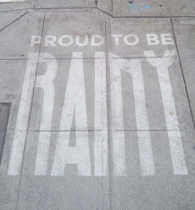 Έργα τέχνης που φαίνονται μόνο όταν βρέχει (2)