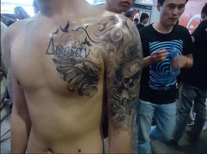 Η επική γκάφα ενός Κινέζου που έκανε τατουάζ με ελληνικά γράμματα (2)