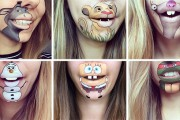 Η Laura Jenkinson χρησιμοποιεί μακιγιάζ για να μετατρέψει το στόμα της σε χαρακτήρες cartoon