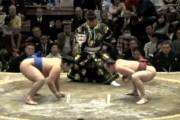 Πανέξυπνη κίνηση από παλαιστή Sumo