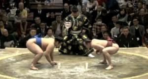Πανέξυπνη κίνηση από παλαιστή Sumo (Video)